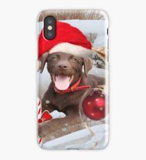Chocolate Lab Christmas Spirit iPhone Case