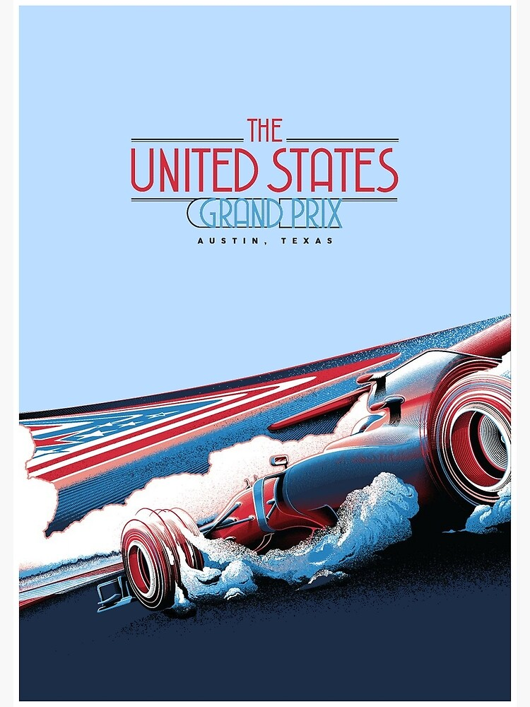 UNITED STATES : Abstract Grand Prix Auto Advertising Print by posterbobs