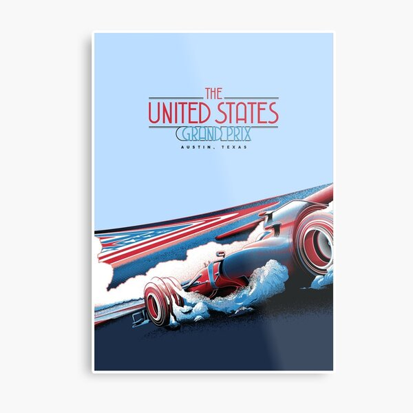 UNITED STATES : Abstract Grand Prix Auto Advertising Print Metal Print