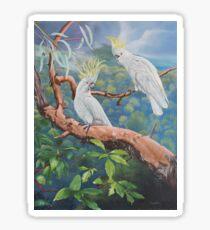 Sulphur-Crested Cockatoos Sticker