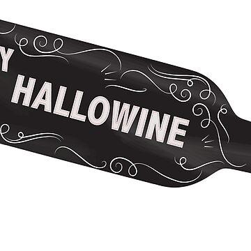 Happy Hallowine Halloween Wine by CafePretzel