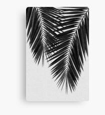 Lienzo Palm Leaf II en blanco y negro