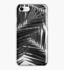 Palm Leaf III Black & White iPhone Case/Skin