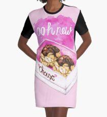 New Chouxs - Food Pun Graphic T-Shirt Dress