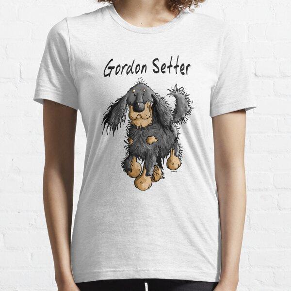Happy Gordon Setter - Dog - Dogs - Comic - Gift - Cartoon Essential T-Shirt