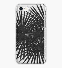 Fan Palm Black & White iPhone Case/Skin