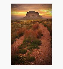 Buttes Fog #3 Photographic Print
