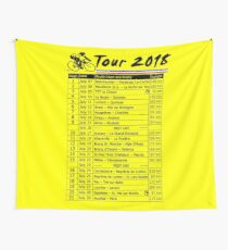 Tour de France 2018 Wall Tapestry