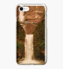 Multnomah Falls in autumn iPhone Case/Skin