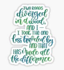 Robert Frost Quote Sticker