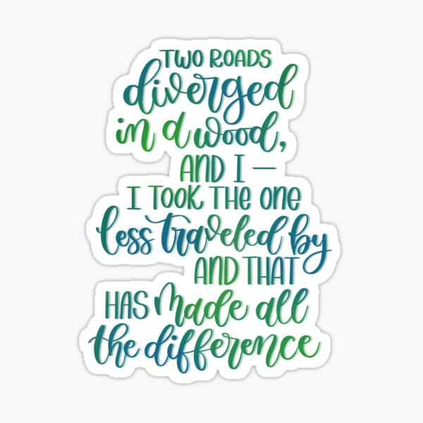 Robert Frost Quote Sticker