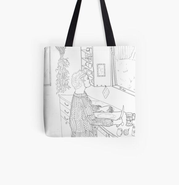 beegarden.works 002 All Over Print Tote Bag