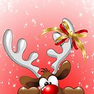 Funny Christmas Reindeer Cartoon by BluedarkArt