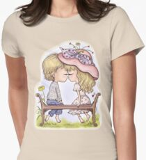 The First Kiss. Love Women's Fitted T-Shirt
