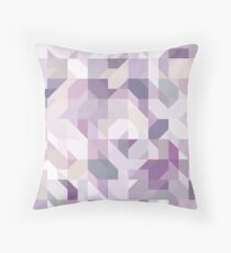 Pastel Purple Geometric on Linen Throw Pillow