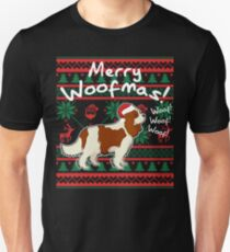 Cavalier King Charles Spaniel Merry Woofmas, Ugly Christmas Sweater Unisex T-Shirt