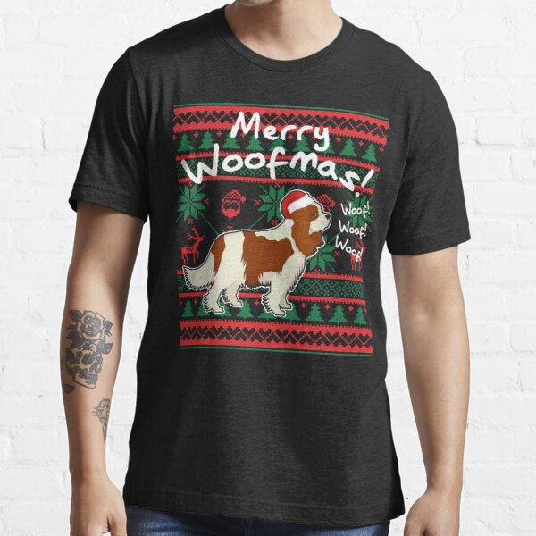 Cavalier King Charles Spaniel Merry Woofmas, Ugly Christmas Sweater Essential T-Shirt