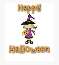 Cute Witch Halloween Design for Kids Photographic Print