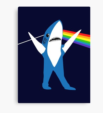 Left Shark of the Moon Canvas Print