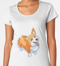 Anatomy of a Corgi T-Shirt Funny Corgis Dog Puppy Shirt Women's Premium T-Shirt
