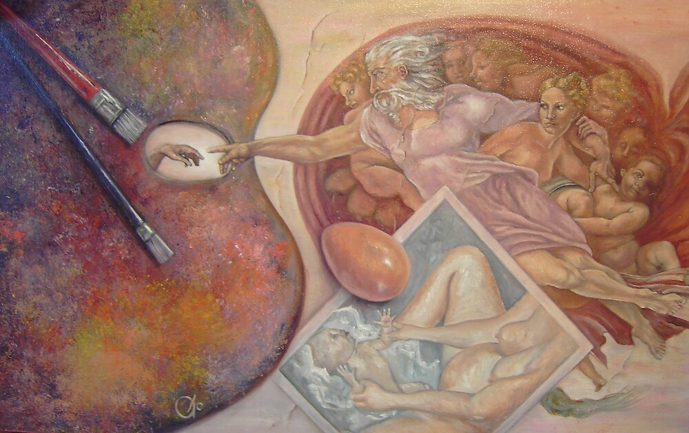 Creation (after Michelangelo's Creation of Adam) by JodiStewart