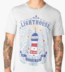 Lighthouse with a hand-lettering quote Men's Premium T-Shirt