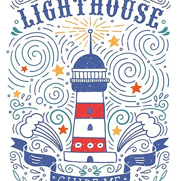 Lighthouse with a hand-lettering quote by BlueInkStudio