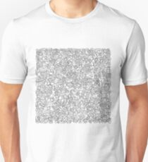 2 edged hearts B&W T-Shirt