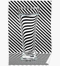 Striped Water Poster
