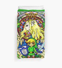 Zelda Wind Waker Stained Glass  Duvet Cover