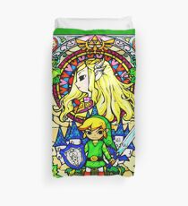 Zelda Wind Waker Glasmalerei Bettbezug