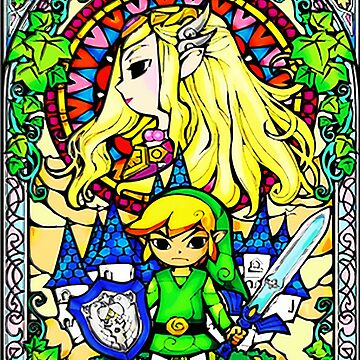 Zelda Wind Waker Stained Glass  by theerikjohnson