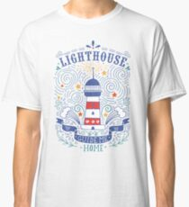 Lighthouse with a hand-lettering quote Classic T-Shirt