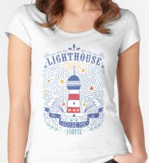 Lighthouse with a hand-lettering quote Women's Fitted Scoop T-Shirt