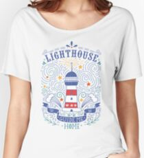 Lighthouse with a hand-lettering quote Women's Relaxed Fit T-Shirt