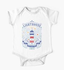 Lighthouse with a hand-lettering quote Kids Clothes