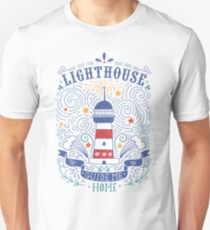 Lighthouse with a hand-lettering quote Unisex T-Shirt