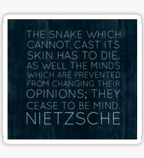 Nietzsche quote 1 Sticker