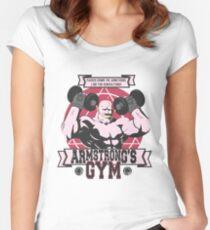 Starke Arm Gym Tailliertes Rundhals-Shirt
