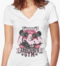 Starke Arm Gym Shirt mit V-Ausschnitt