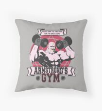 Strong Arm Gym Throw Pillow