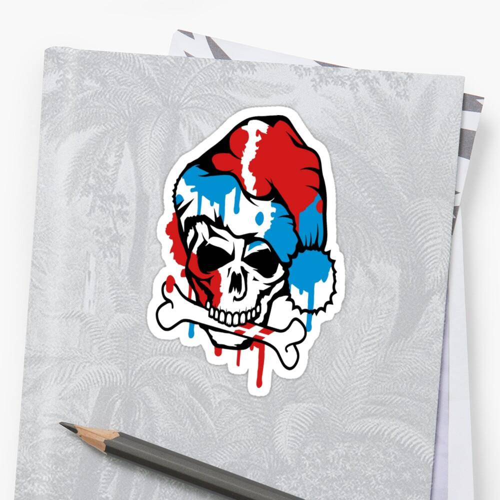Santa claus skull graffiti