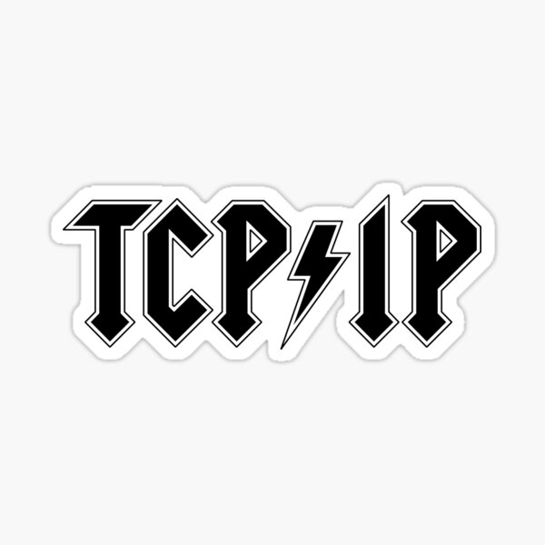 TCP/IP band tee Sticker