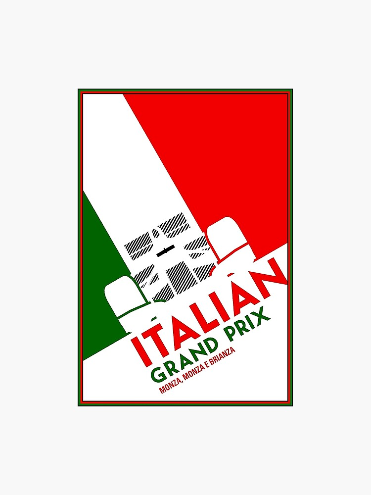 MONZA : Vintage Italian Grand Prix Auto Advertising Print | Photographic  Print