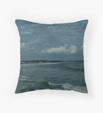 Narragansett Beach after the Storm Throw Pillow