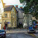 Street Scene In Strängnäs Sweden by Barry W  King
