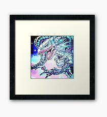 Blue-Eyes White Dragon yu-gi-oh Framed Print
