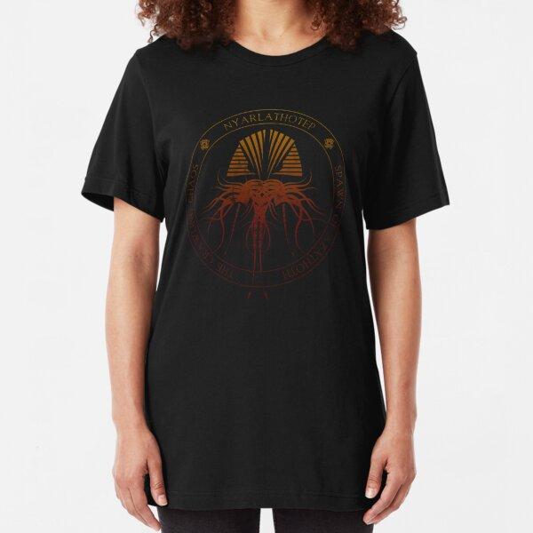 Nyarlathotep Sigil (hellfire) Slim Fit T-Shirt