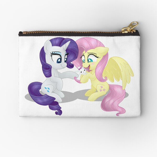 Rarity and Fluttershy - Bunny Decorating Zipper Pouch