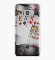 Quad Kings Poker Cards On Layer Pattern. Samsung Galaxy Case/Skin